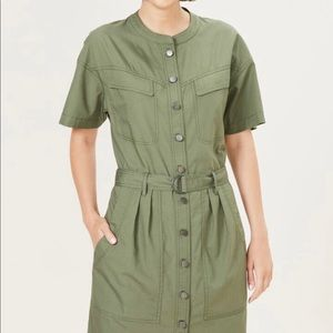 Khaki French Connection belted utility dress 14